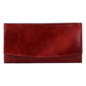 Dámská kožená peněženka tmavě červená – Tomas Suave červená