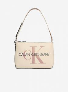 Calvin Klein krémová kabelka