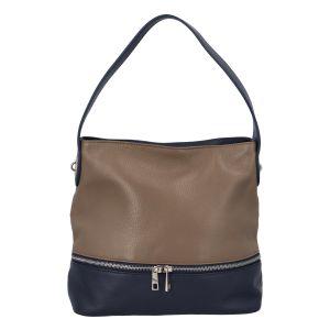 Dámská kožená kabelka přes rameno khaki – ItalY Miriam Khaki