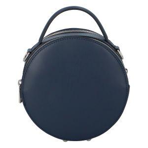 Malá tmavě modrá elegantní dámská kožená kabelka – ItalY Husna tmavě modrá