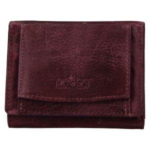 Dámská kožená slim peněženka Lagen Déborah – fialová