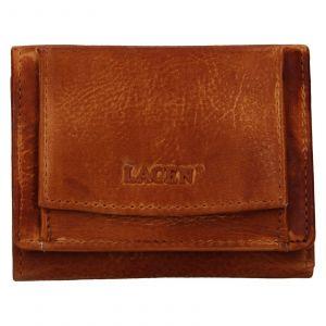 Dámská kožená slim peněženka Lagen Déborah – hnědá