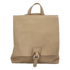 Dámský kožený batůžek kabelka světlý taupe – ItalY Francesco taupe