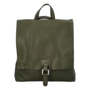 Dámský kožený batůžek kabelka olivově zelený – ItalY Francesco zelená