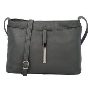 Dámská kožená crossbody kabelka šedá – ItalY Eneta šedá