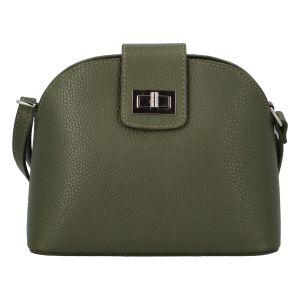 Dámská kožená crossbody kabelka olivově zelená – ItalY Brokylon zelená