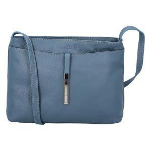 Dámská kožená crossbody kabelka modrá – ItalY Eneta modrá