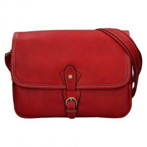 Kožená dámská crosbody kabelka Katana Greasy – tmavě červená