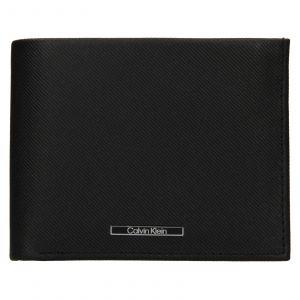 Pánská kožená peněženka Calvin Klein Kryst – černá