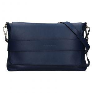 Dámská kožená kabelka Facebag Fabia – tmavě modrá