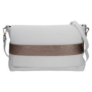 Dámská kožená kabelka Facebag Fabia – bílo-zlatá