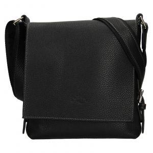Kožená dámská crosbody kabelka Katana Mallva – černá