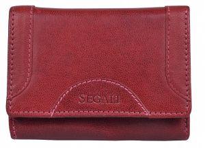 SEGALI Dámská kožená peněženka 7196 B portwine