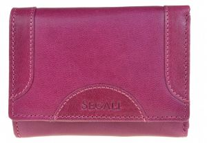 SEGALI Dámská kožená peněženka 7196 B fucsia