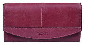 SEGALI Dámská kožená peněženka 7056 fucsia