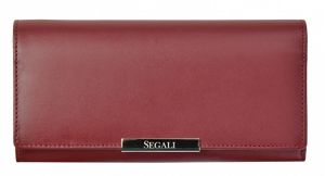 SEGALI Dámská kožená peněženka 7066 bordo