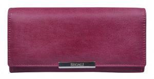 SEGALI Dámská kožená peněženka 7066 fucsia