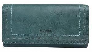 SEGALI Dámská kožená peněženka 7052 green