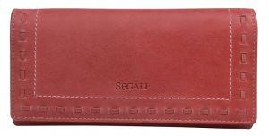SEGALI Dámská kožená peněženka 7052 red
