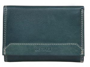 SEGALI Dámská kožená peněženka 7023 Z green
