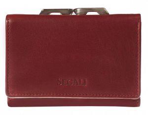 SEGALI Dámská kožená peněženka 870 portwine