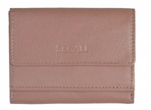 SEGALI Dámská kožená peněženka 1756 baby pink