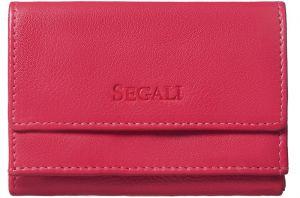 SEGALI Dámská kožená peněženka 1756 hot pink