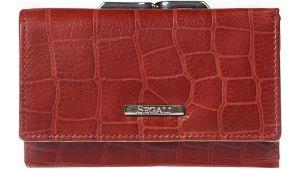 SEGALI Dámská kožená peněženka 3305 croco red