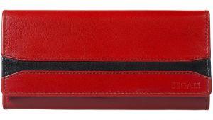 SEGALI Dámská kožená peněženka 2025 A red/black