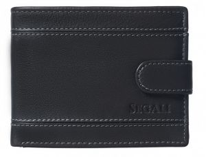 SEGALI Pánská kožená peněženka 61285 black