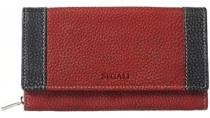 SEGALI Dámská kožená peněženka 61288 WO red/black