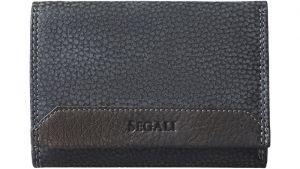 SEGALI Dámská kožená peněženka 100 černá/hnědá WO
