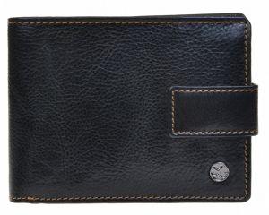 SEGALI Pánská kožená peněženka 907 114 2007 C black/cognac