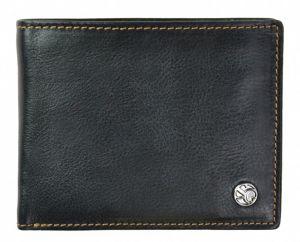 SEGALI Pánská kožená peněženka 907 114 026 black/cognac