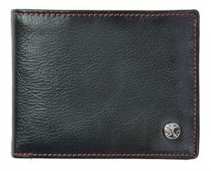 SEGALI Pánská kožená peněženka 907 114 026 black/red