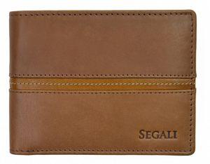 SEGALI Pánská kožená peněženka 720 137 2007 brown/cognac