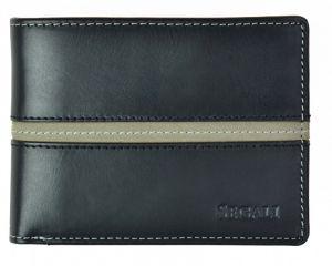 SEGALI Pánská kožená peněženka 720 137 2007 black/grey