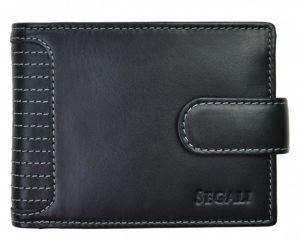 SEGALI Pánská kožená peněženka 572 665 005 C black