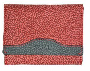 SEGALI Dámská kožená peněženka 61420 W red/black