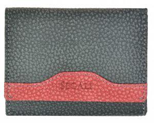 SEGALI Dámská kožená peněženka 61420 W black/red
