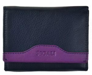 SEGALI Dámská kožená peněženka 61420 blue/purple