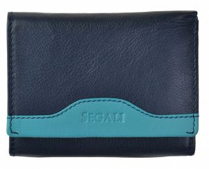 SEGALI Dámská kožená peněženka 61420 blue/turquoise