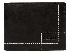 SEGALI Pánská kožená peněženka 02 black