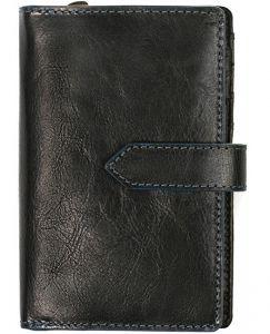 SEGALI Dámská kožená peněženka 3743 black/blue