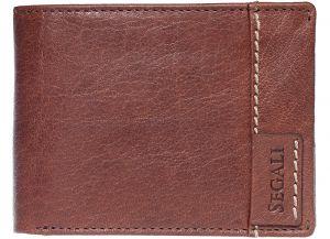 SEGALI Pánská kožená peněženka 3490 brown