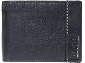 SEGALI Pánská kožená peněženka 3490 black