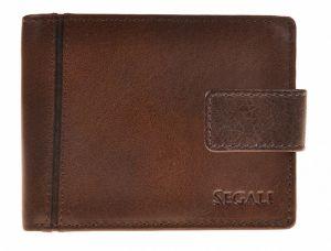 SEGALI Pánská kožená peněženka 3491 brown