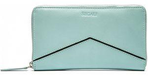 SEGALI Dámská kožená peněženka 1084 blue/black