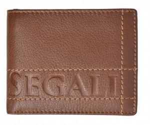 SEGALI Pánská kožená peněženka 19052 tan