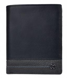 SEGALI Pánská kožená peněženka 951 320 2519 black/grey